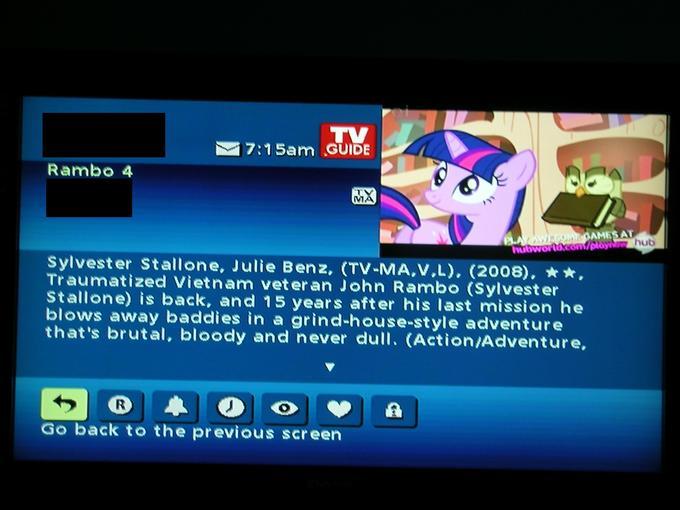 my TV service borked