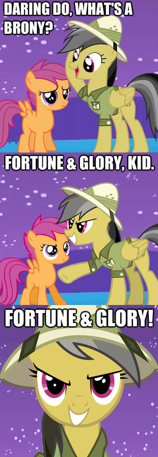 Daring Do and the Bronies of Doom