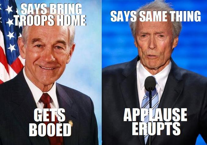 Ron Paul Clint Eastwood