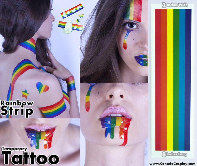 Rainbow Temporary Tattoo @ CanadaCosplay.com