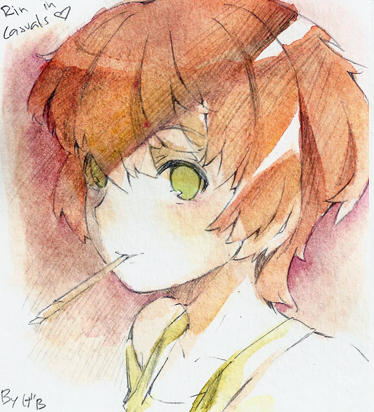 Rin in casuals watercolor, by gebyy-terar
