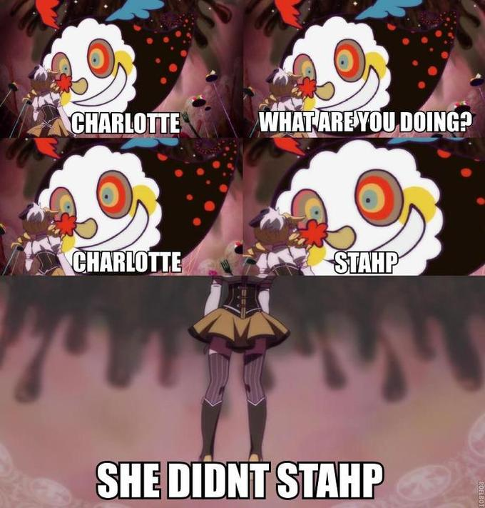 Charlotte can't stahp