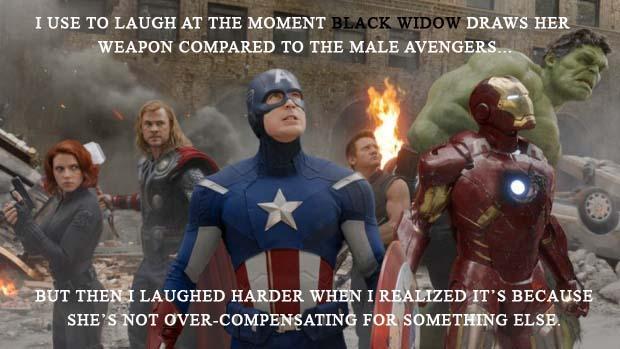 Black Widow Not Compensating