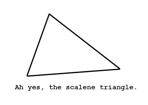 how to find the hypotenuse of a scalene triangle