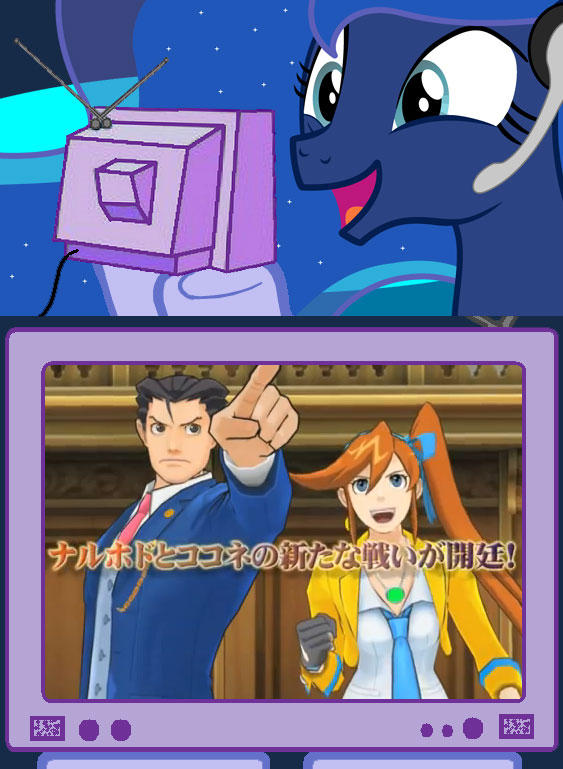 Gamer Luna Watching New Ace Attorney 5 Trailer