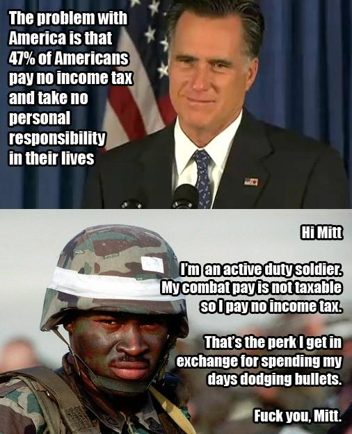 Honor and sercive, mr. Mitt, look it up.