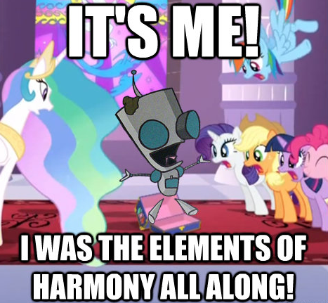 it's me! i was the elements of harmony all along!
