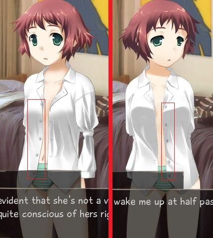 Not even Rin's shirt buttons know what they want in life.