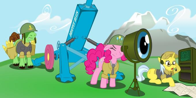 what's the sound of artillery? BOOM BOOM! raining down on the enemy, BOOM BOOM!