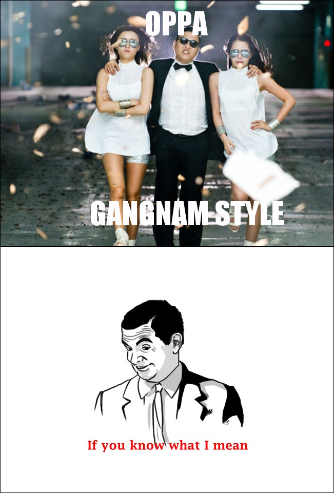 If You Do What You Like At Least One Person Will Be: Gangnam Style If You Know What I Mean