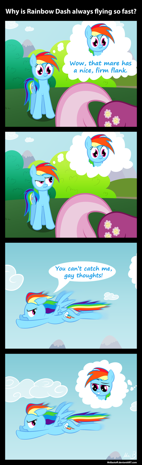 Why Rainbow Dash Is Flying So Fast