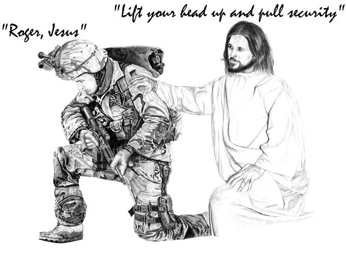 Jesus and Soldier