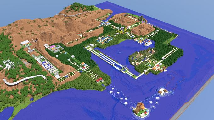 Full Scale Recreation of the Kanto Region from Pokemon.