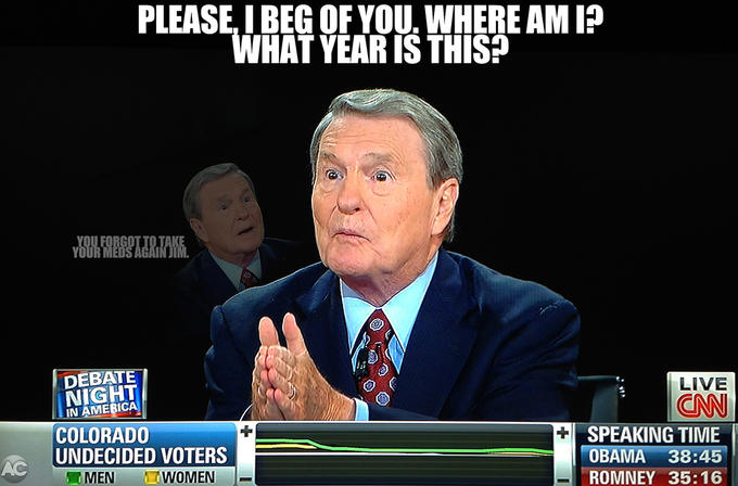 Jim Lehrer's Bad Night - Who Am I?