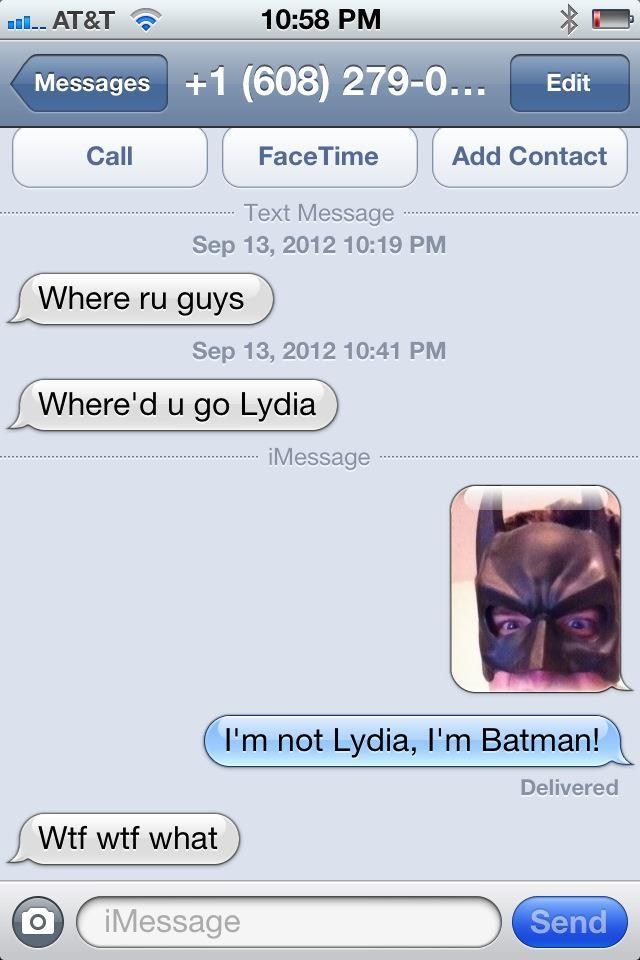No Lydia Here, Only Batman!