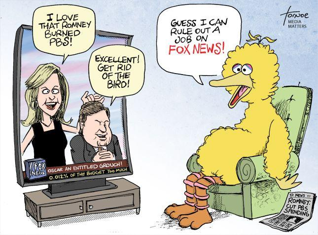 Unemployed Big Bird Watches Fox