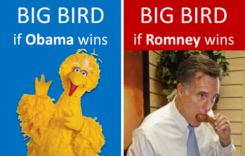 Romney Wins and Eats Big Bird