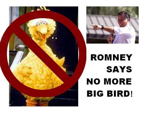 Romney Says No More Big Bird!
