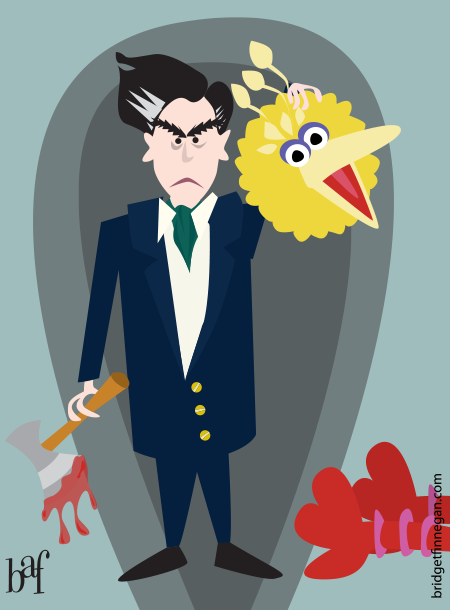 Romney Beheads Big Bird