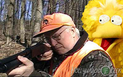 Cheney Goes Hunting for Big Bird