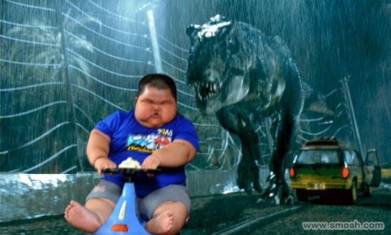 Lu Hao escapes dinosaurs