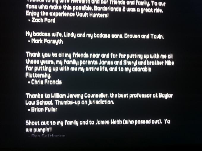 Borderlands 2 credits