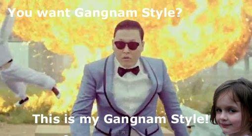 Disaster Girl does Gangnam Style