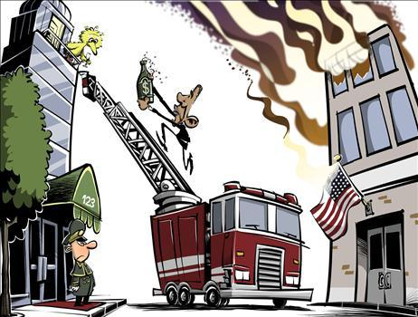 Obama Delivers Water to Big Bird as Nation Burns