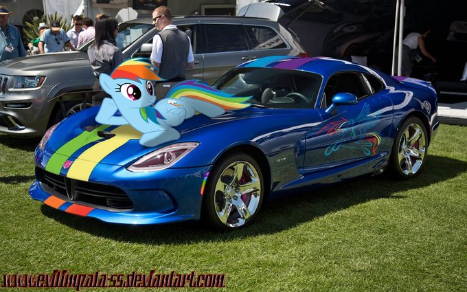 imgine theres rainbow dash in car show