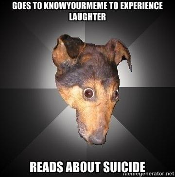 Depression Dog on the Internet