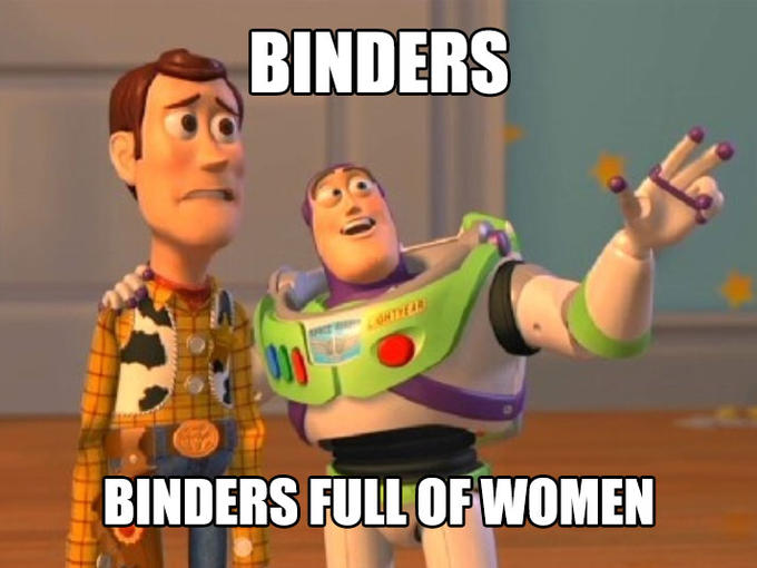 Binders Full of Women, EVERYWHERE!