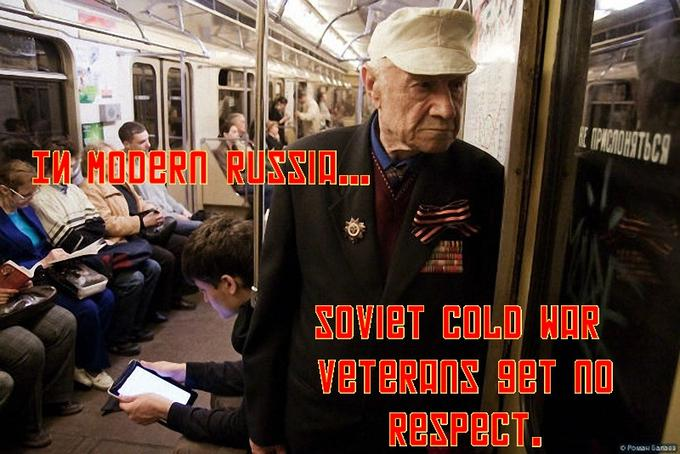 In Modern Russia, Soviet Cold War Veterans get no respect.