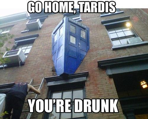 The TARDIS is drunk again.