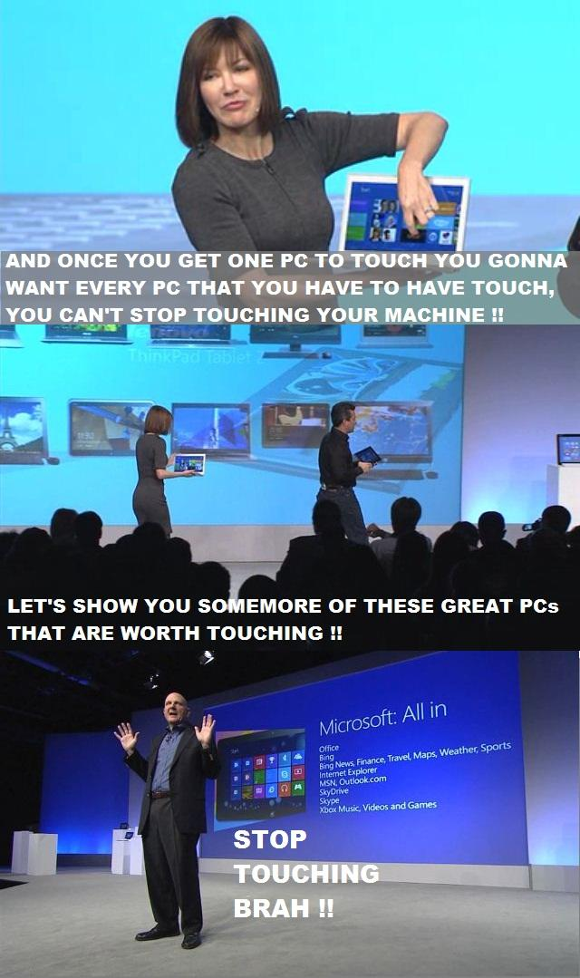 Windows 8 makes you feel like touching things