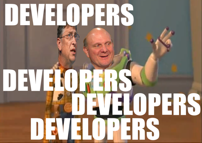 Developers. Developers everywhere.