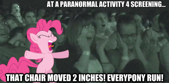 at a paranormal activity 4 screening...