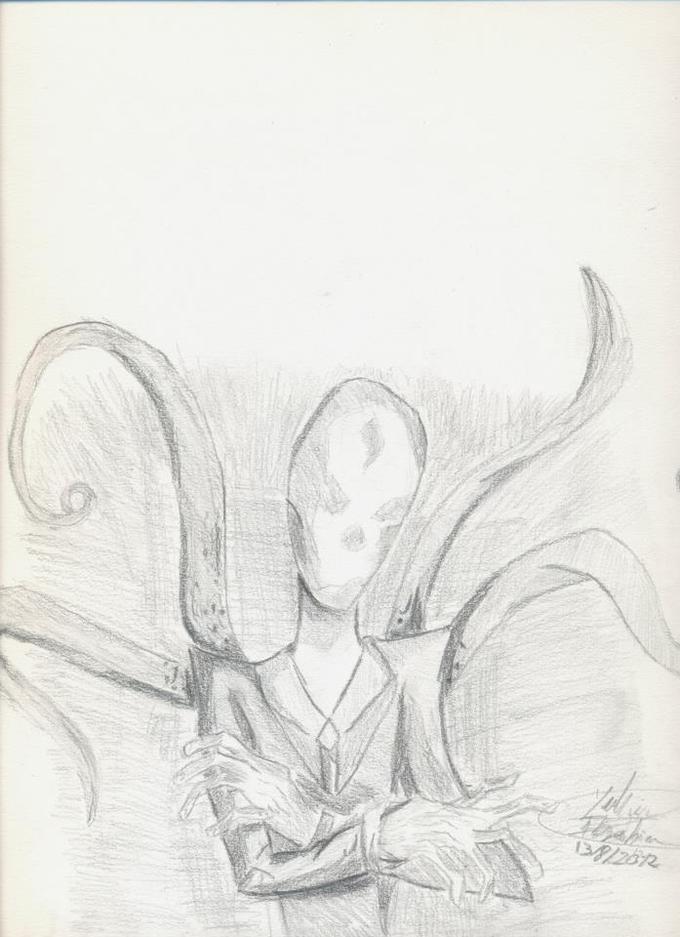 my slender man expectation portrait