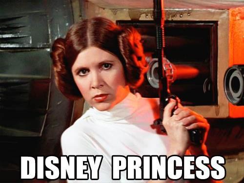 DISNEY PRINCESS Carrie Fisher Leia Organa Luke Skywalker Han Solo