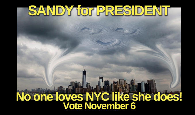 Hurricane Sandy Affects the Election