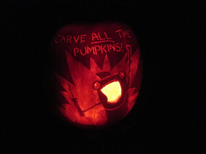 Carve *all* the pumpkins!