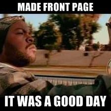 It was a good day-Front Page