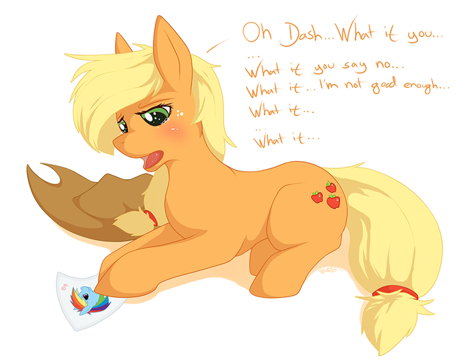 >that feel when Applejack has a crush on Dash