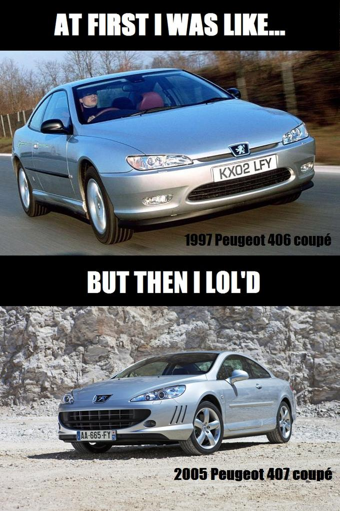 lolin' french cars...