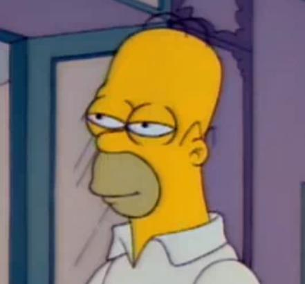 30c homer simpson, mid blink the simpsons know your meme