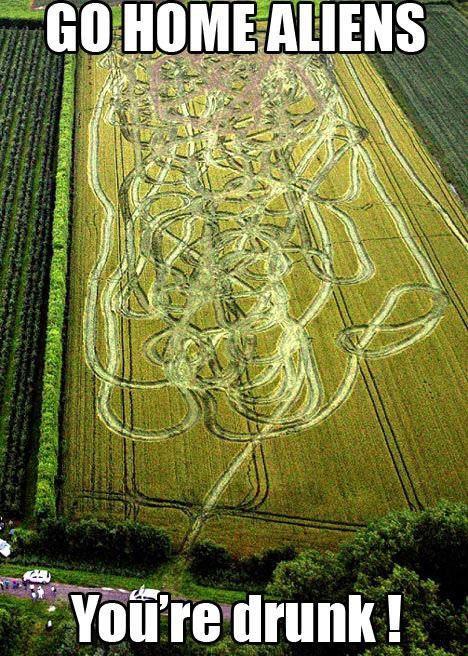 Drunk Alien Crop Circle