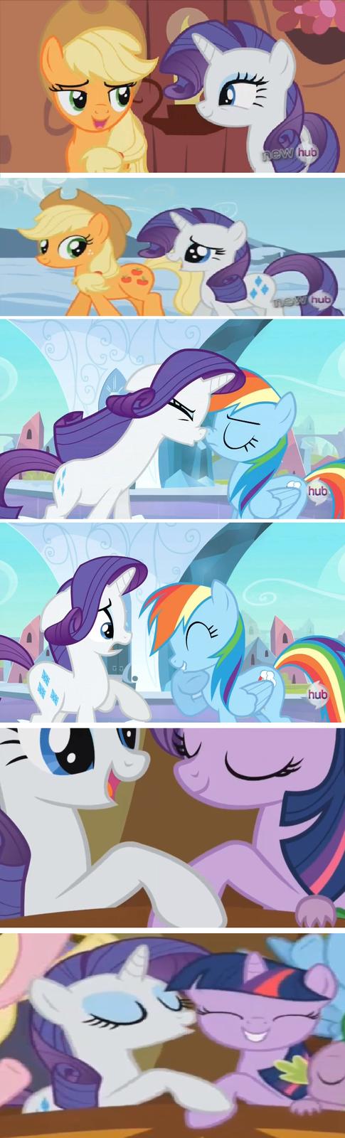 Congratulations, Rarity, you're the new Rainbow Dash.