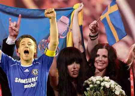 John Terry wins the Eurovision Song Contest