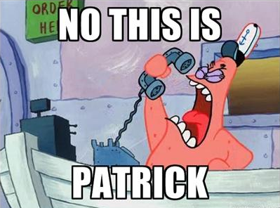 1f9 no, this is patrick no, this is patrick know your meme
