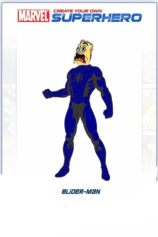 It's not Spider-Man! It's my original character Blider-Man!!