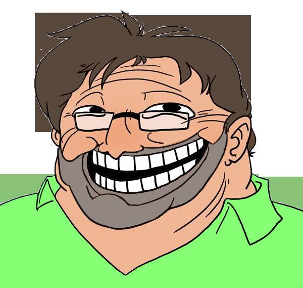 Gaben Beard Troll Face
